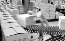Man working in a distribution logistics centre